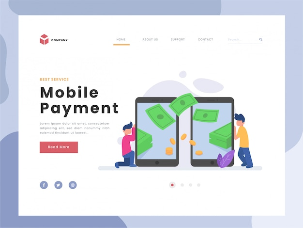 Flat vector illustration idea payment concept for landing page template, man doing transaction, financial transactions on payment system, coin,