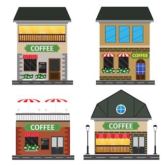 Flat vector illustration stock building