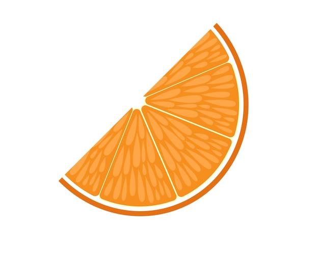 フラットベクトルオレンジスライス