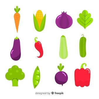 Плоские овощи и фрукты фон