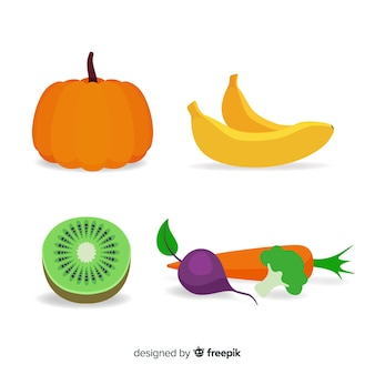 Flat vegetables and fruits