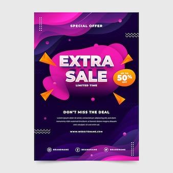 평면 수직 판매 포스터 템플릿