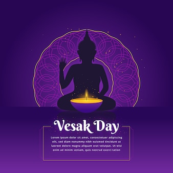 Flat vesak background concept