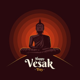 Flat vesak cultural background