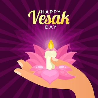 Flat vesak day illustration