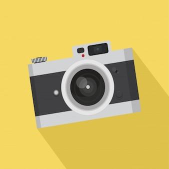 平らなヴィンテージカメラ