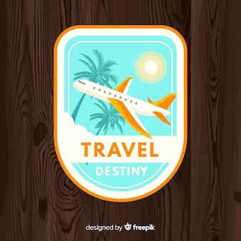 Flat vintage travel logo