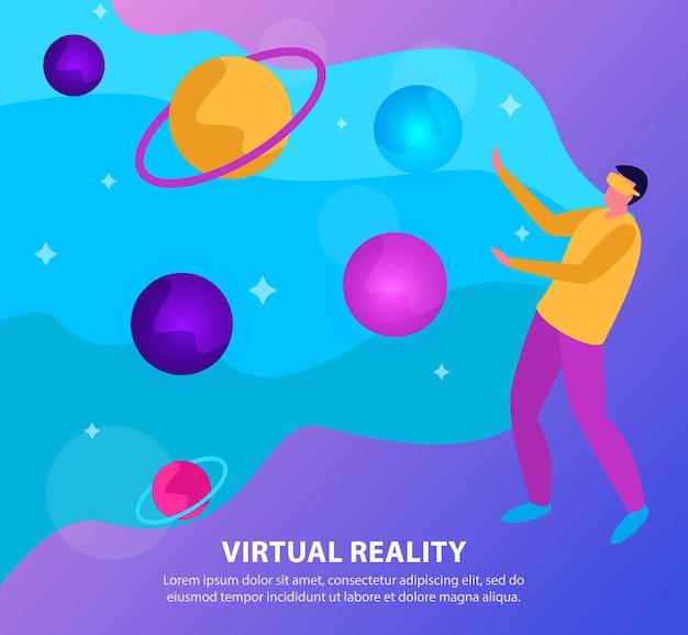 Flat virtual reality background