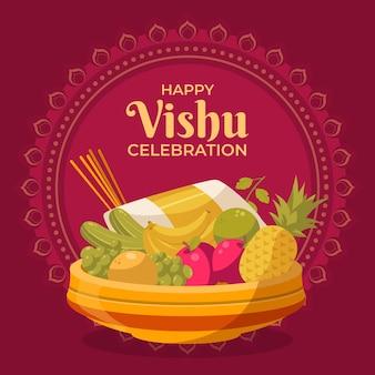 Flat vishu illustration