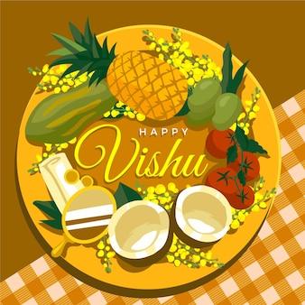 Illustrazione di vishu piatto
