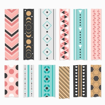 Flat washi tape collection