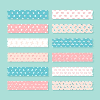 Flat washi tape pack