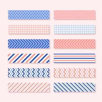 Flat washi tape set