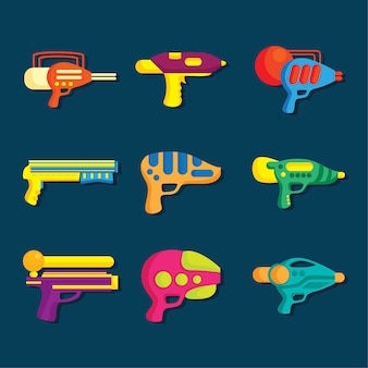 Flat water gun collection