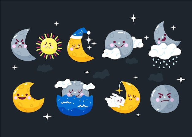 平らな天気予報要素