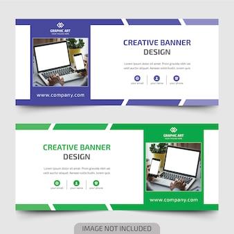 Flat web banner design