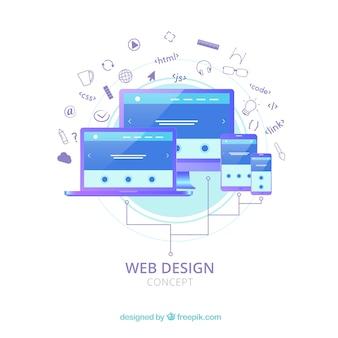 Flat web design concept