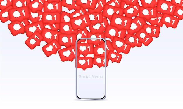 플랫 웹 아이콘 모바일 개념 및 웹 앱용 요소가 있는 평면 디자인의 벡터 라인 아이콘