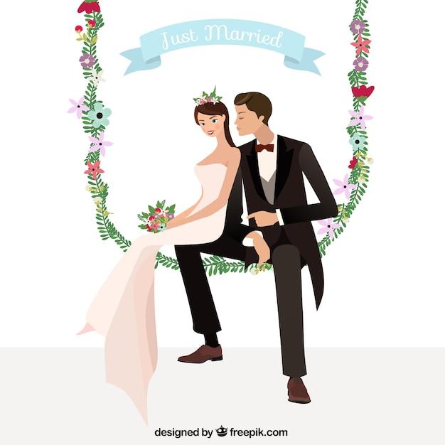 Flat wedding card