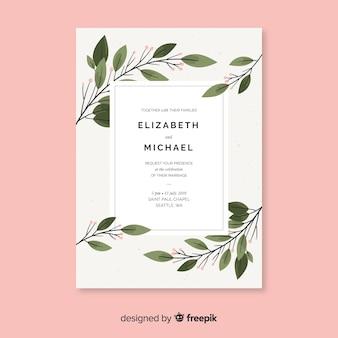 Flat wedding invitation template