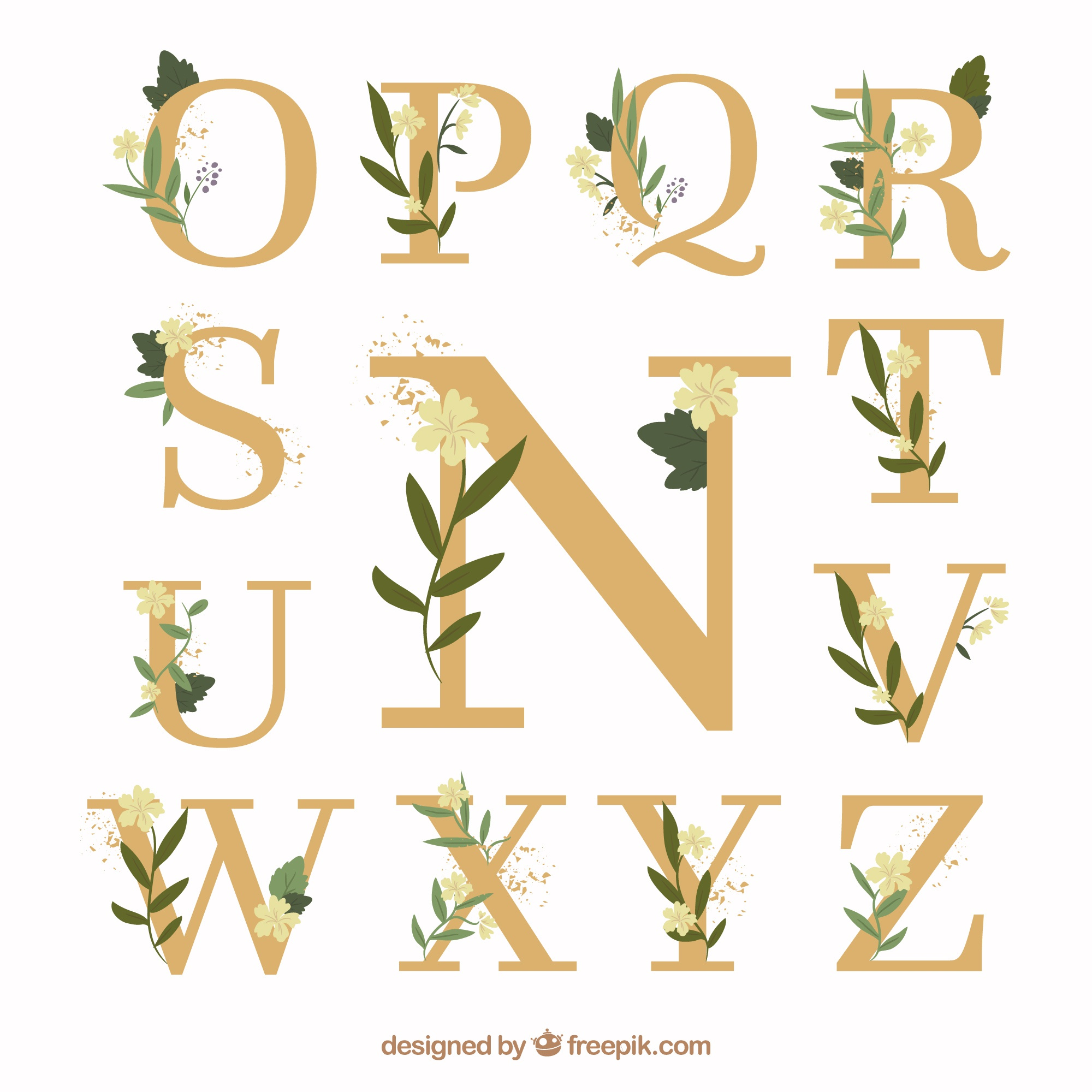 Flat wedding lettering collection