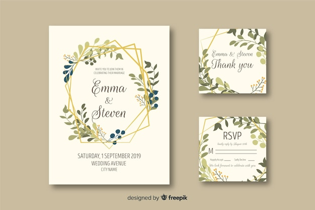 Wedding Invite Vectors Photos And PSD Files