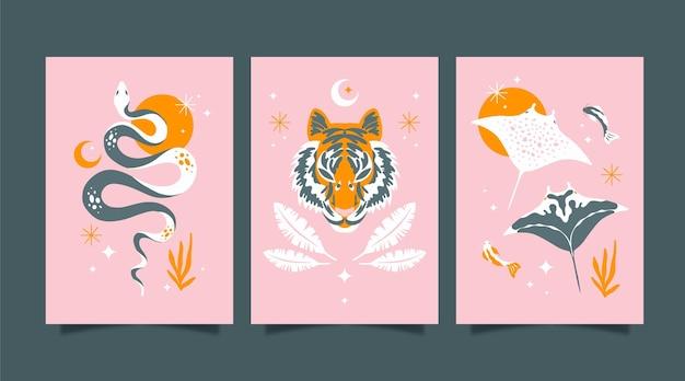 평평한 야생 동물 덮개