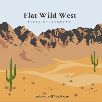 フラット野生の西の背景