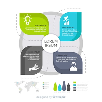 Flat windmill infographic design template