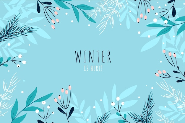 Flat winter background