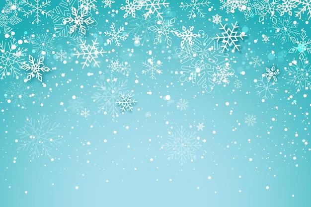 平らな冬の背景