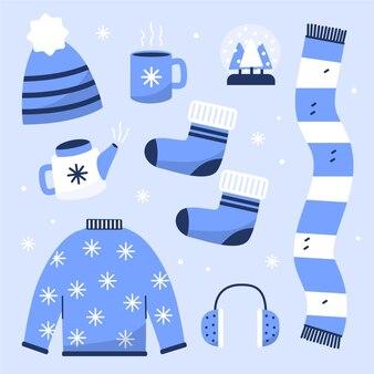 Flat winter clothes and essentials set