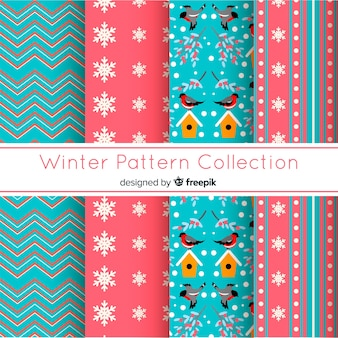 Flat winter pattern collection