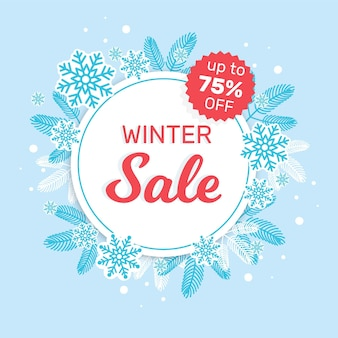 플랫 겨울 판매 배경