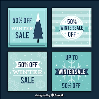Flat winter sale card pack
