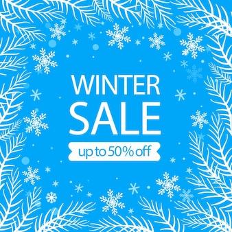 Offerta di vendita invernale piatta