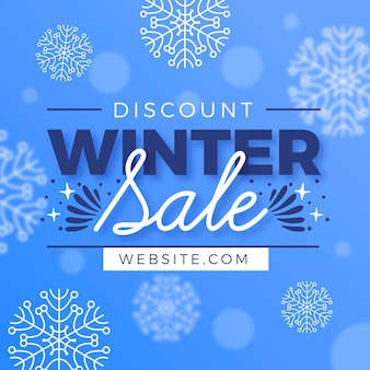 Flat winter sale promo with special offer