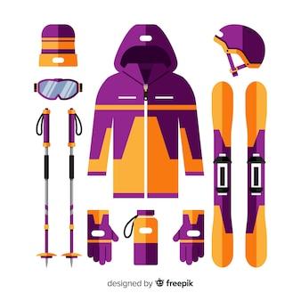 Flat winter sport equipment