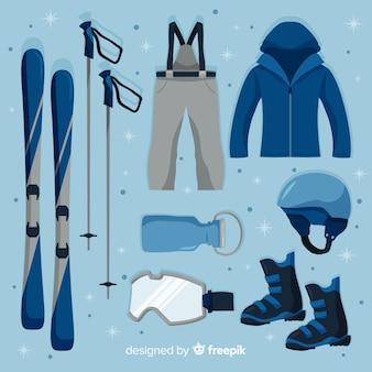 Flat winter sport equipment