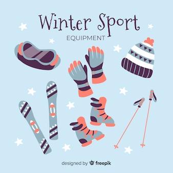 Плоское зимнее спортивное оборудование