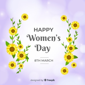 Flat women's day background