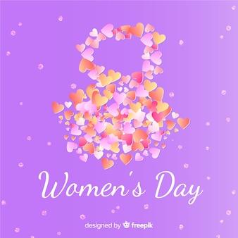 Flat women's day background
