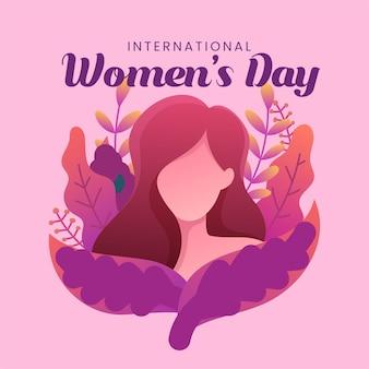 Плоский женский день иллюстрация
