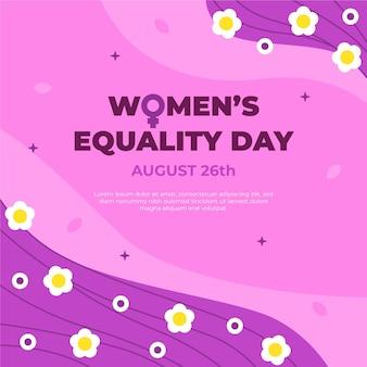플랫 여성 평등의 날 일러스트