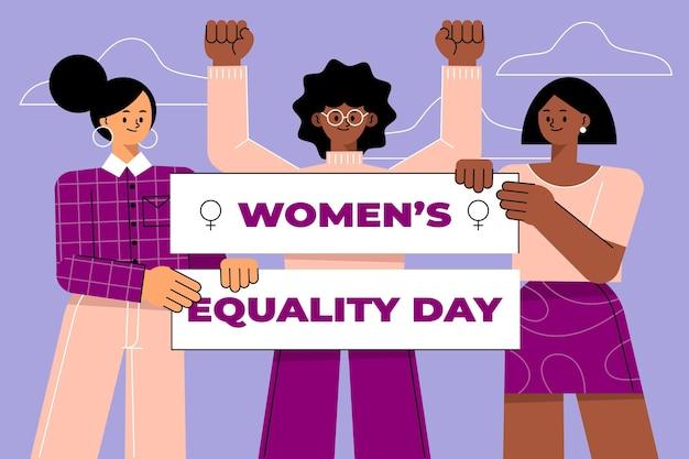 Плоская иллюстрация дня равенства женщин