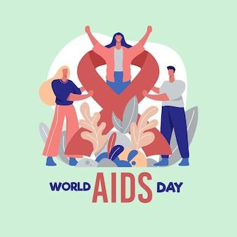 평평한 세계 에이즈의 날 개념