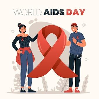 평면 세계 에이즈의 날 그림