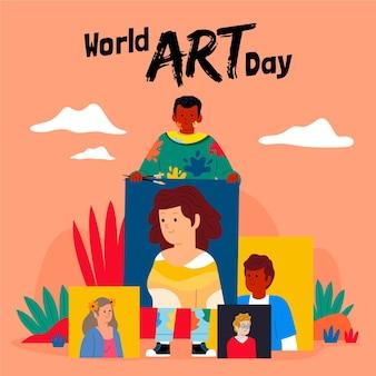 평면 세계 예술의 날 그림