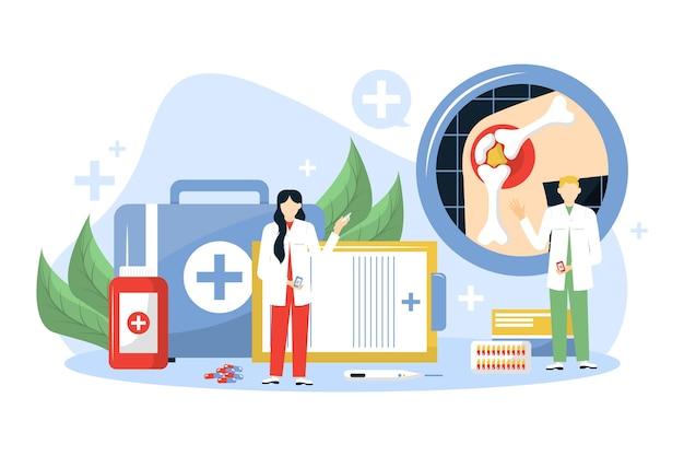 평평한 세계 관절염의 날 배경