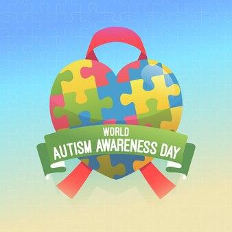 Плоский всемирный день осведомленности об аутизме